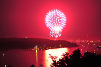 Fireworks over Norfork Lake