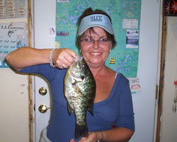 Lady with crappie fish Norfork Lake