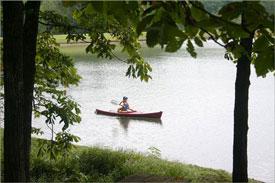 Canoe on Norfork Lake