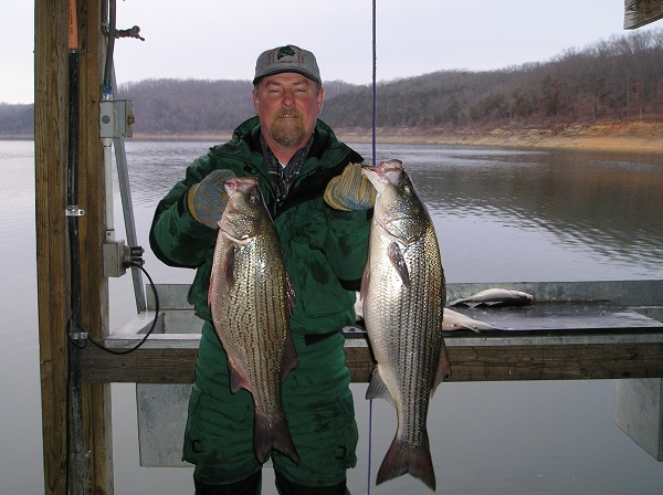 Man with two fish