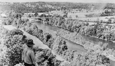 Bridge over Norfork River before lake was filled