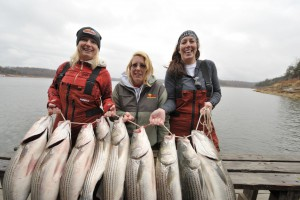 Girls Striper fishing trip
