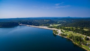 Norfork Lake Dam Aerial view