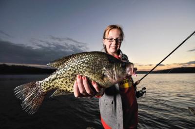 Crappie fishing on Norfork lake