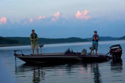 Morning fishing on Norfork Lake